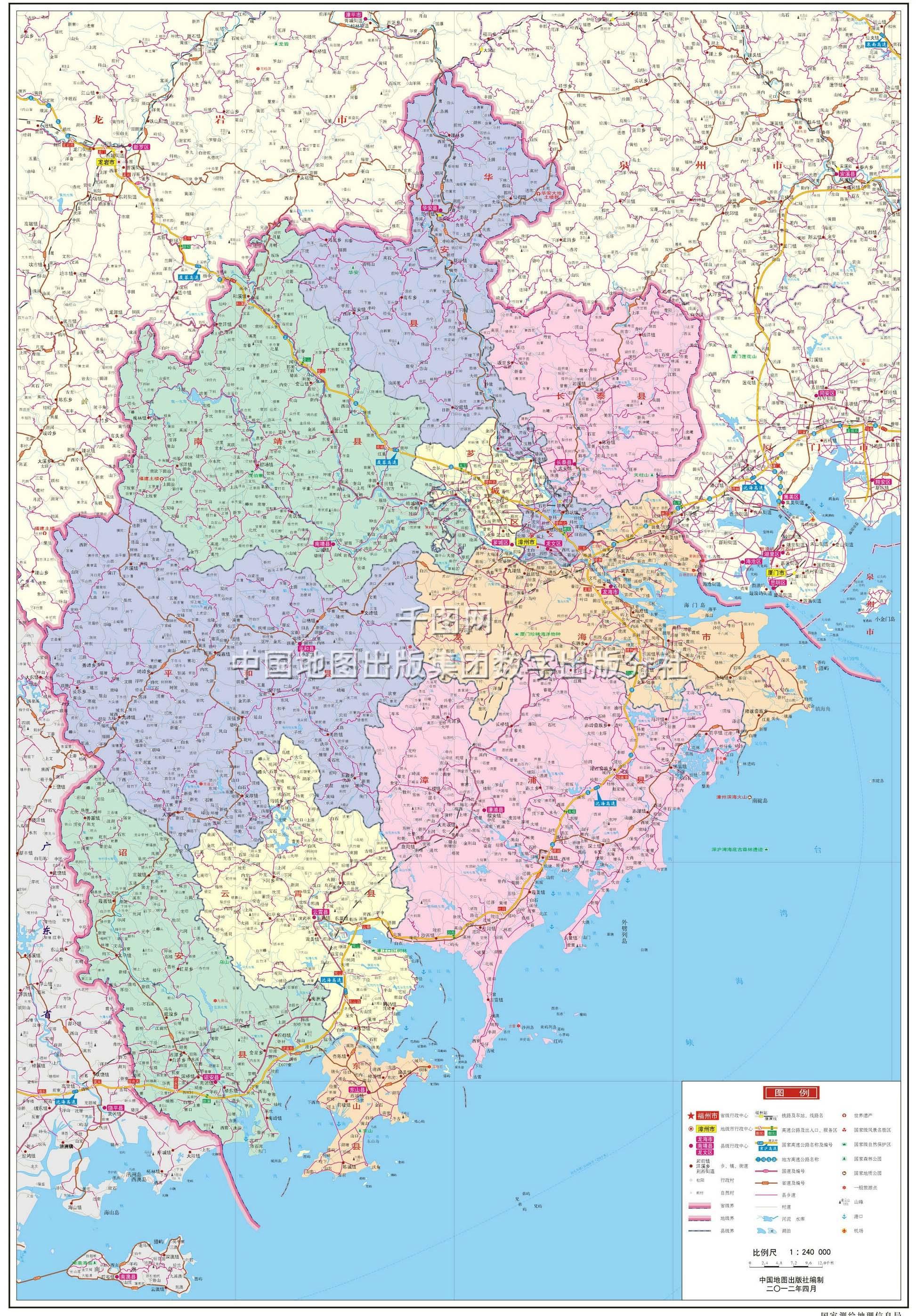 福建福州市区地图_漳州市地图高清版_漳州地图库