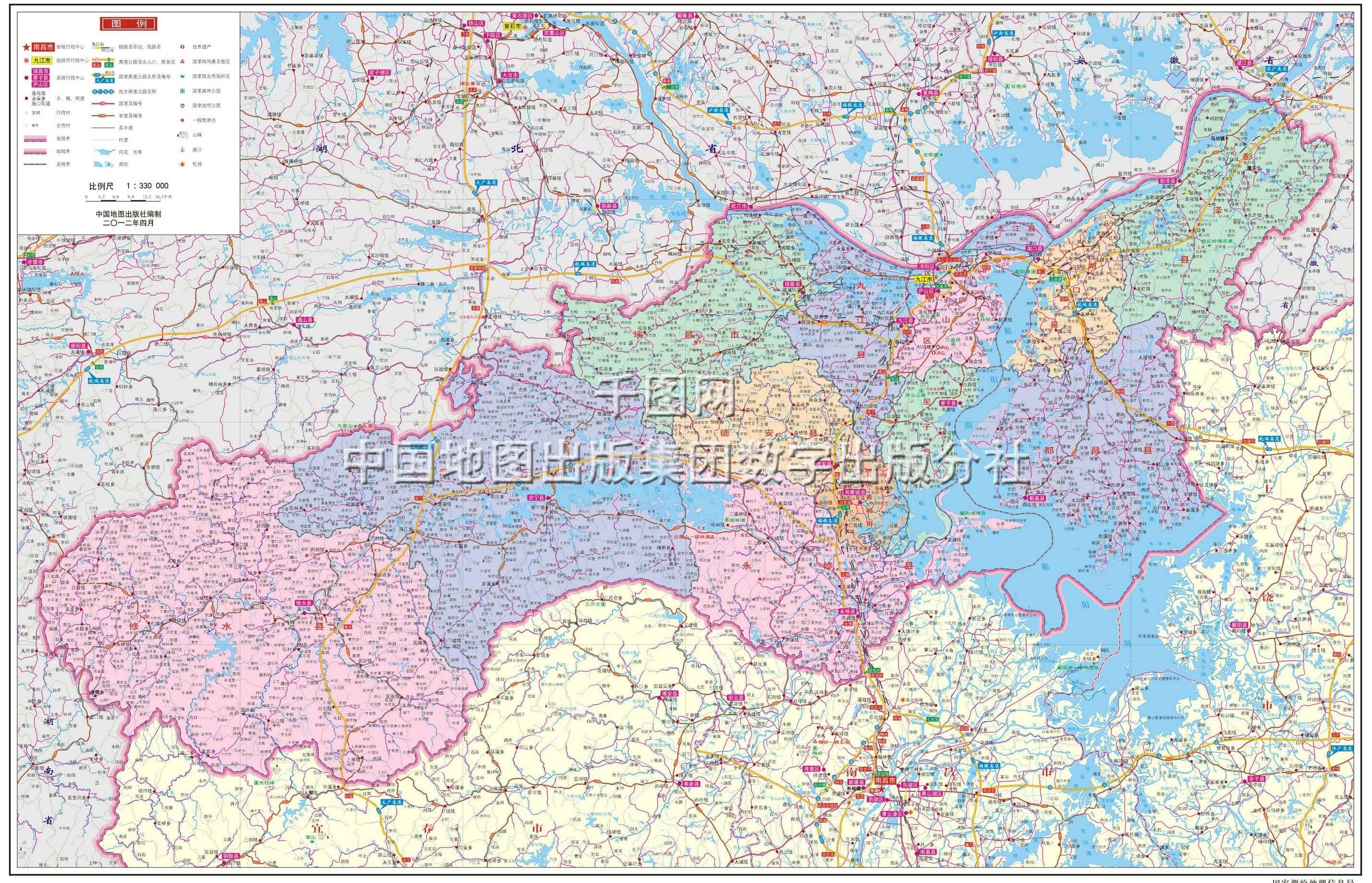 九江市地图高清版