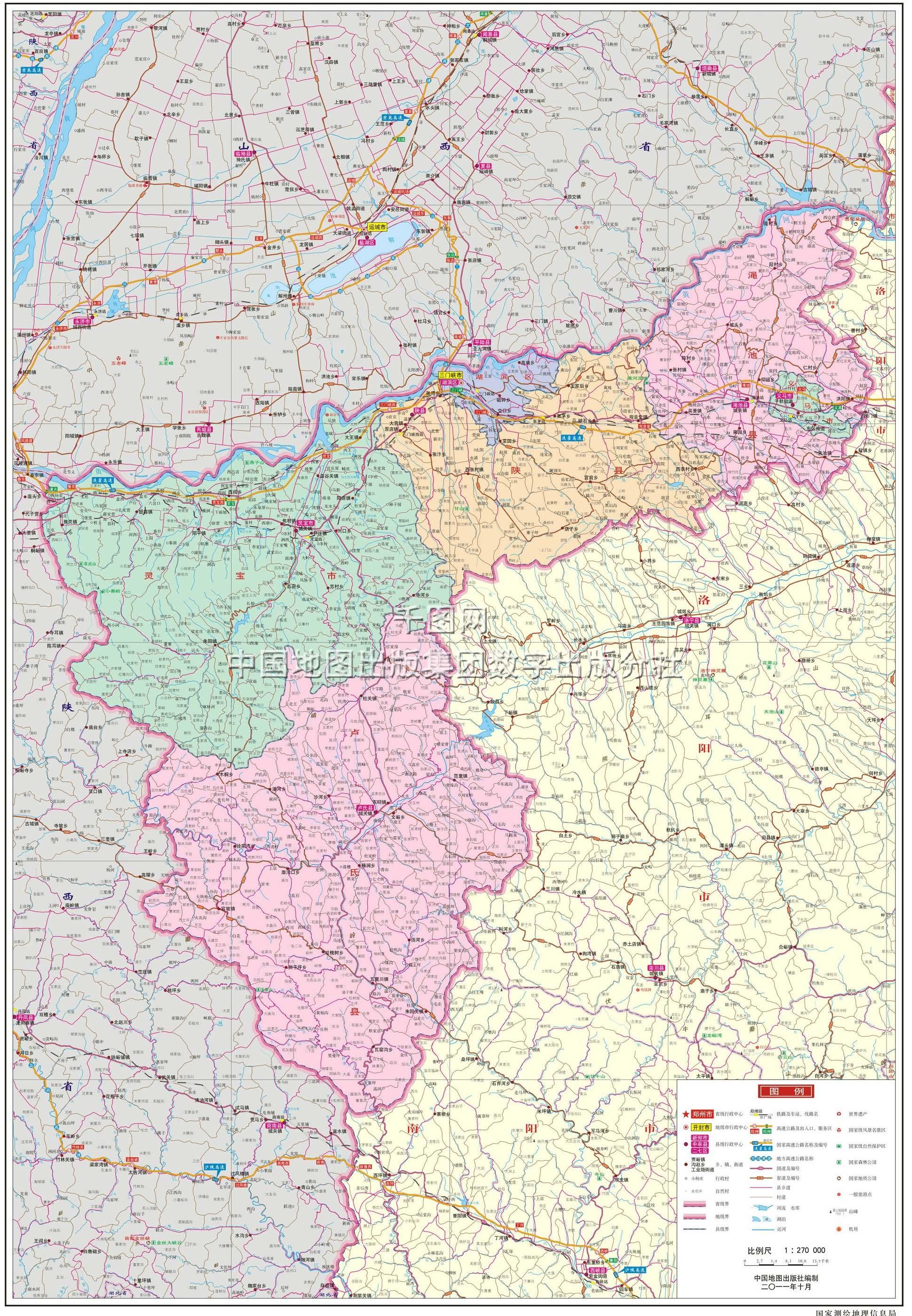 三门峡卢氏县地图_三门峡市地图高清版_三门峡地图库