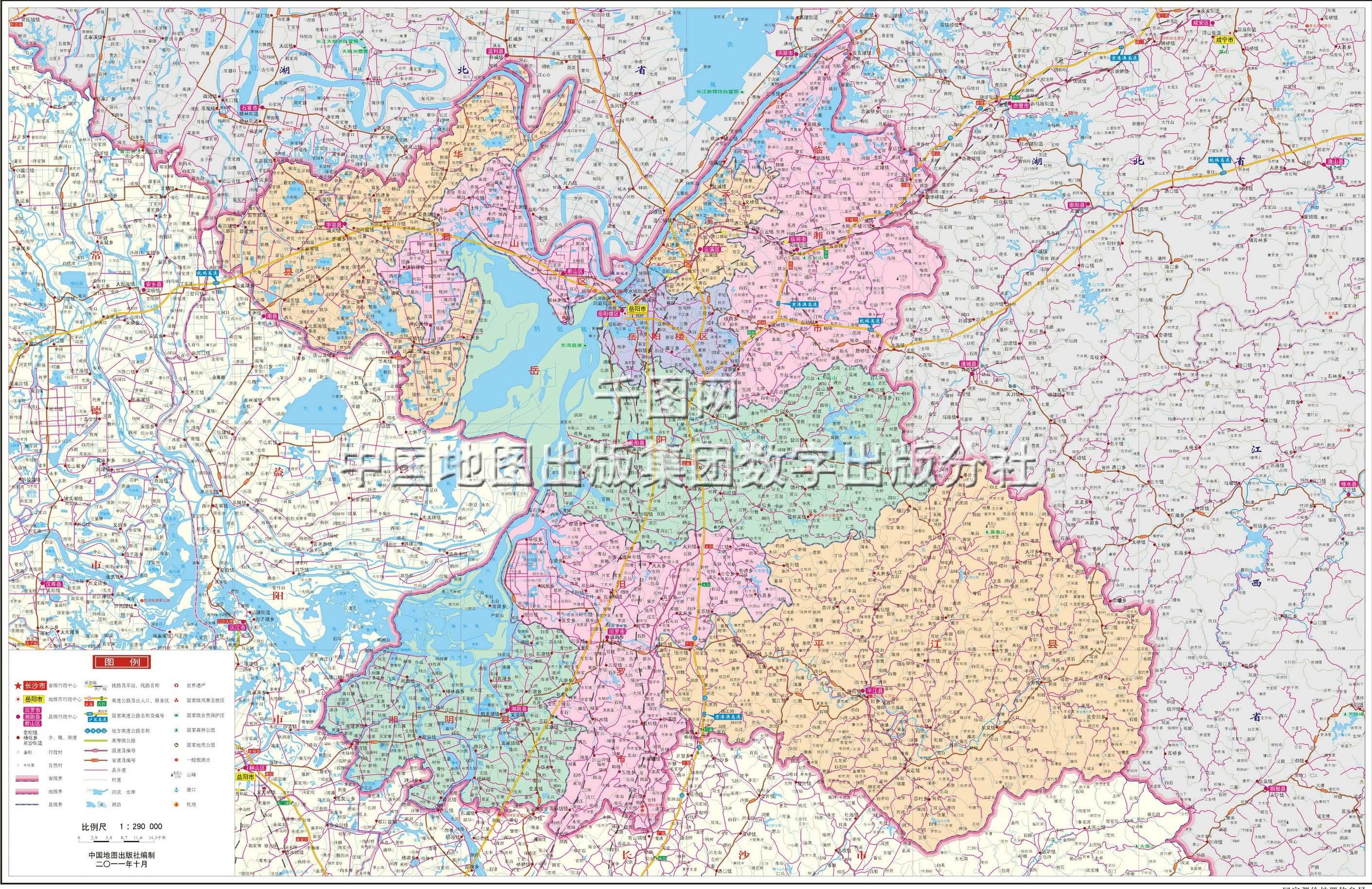 岳阳市地图高清版