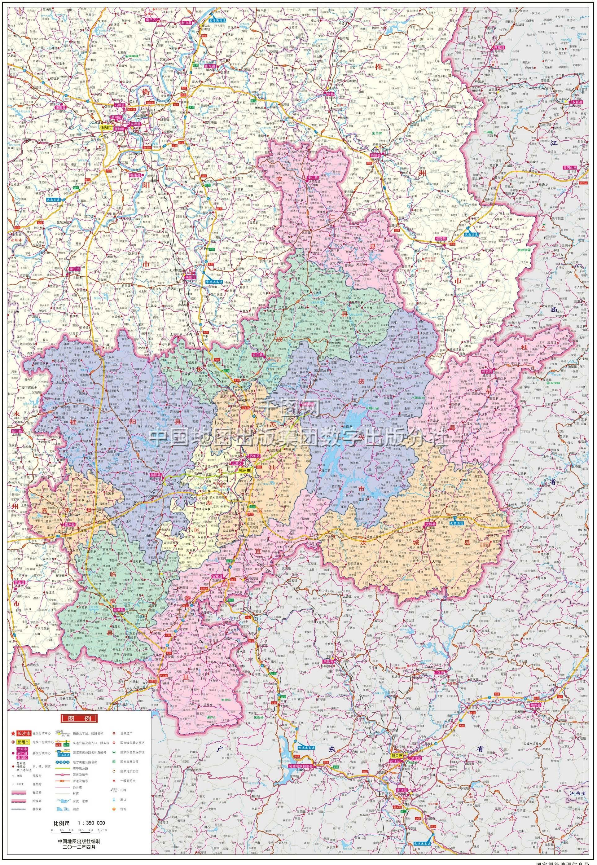郴州市地图高清版