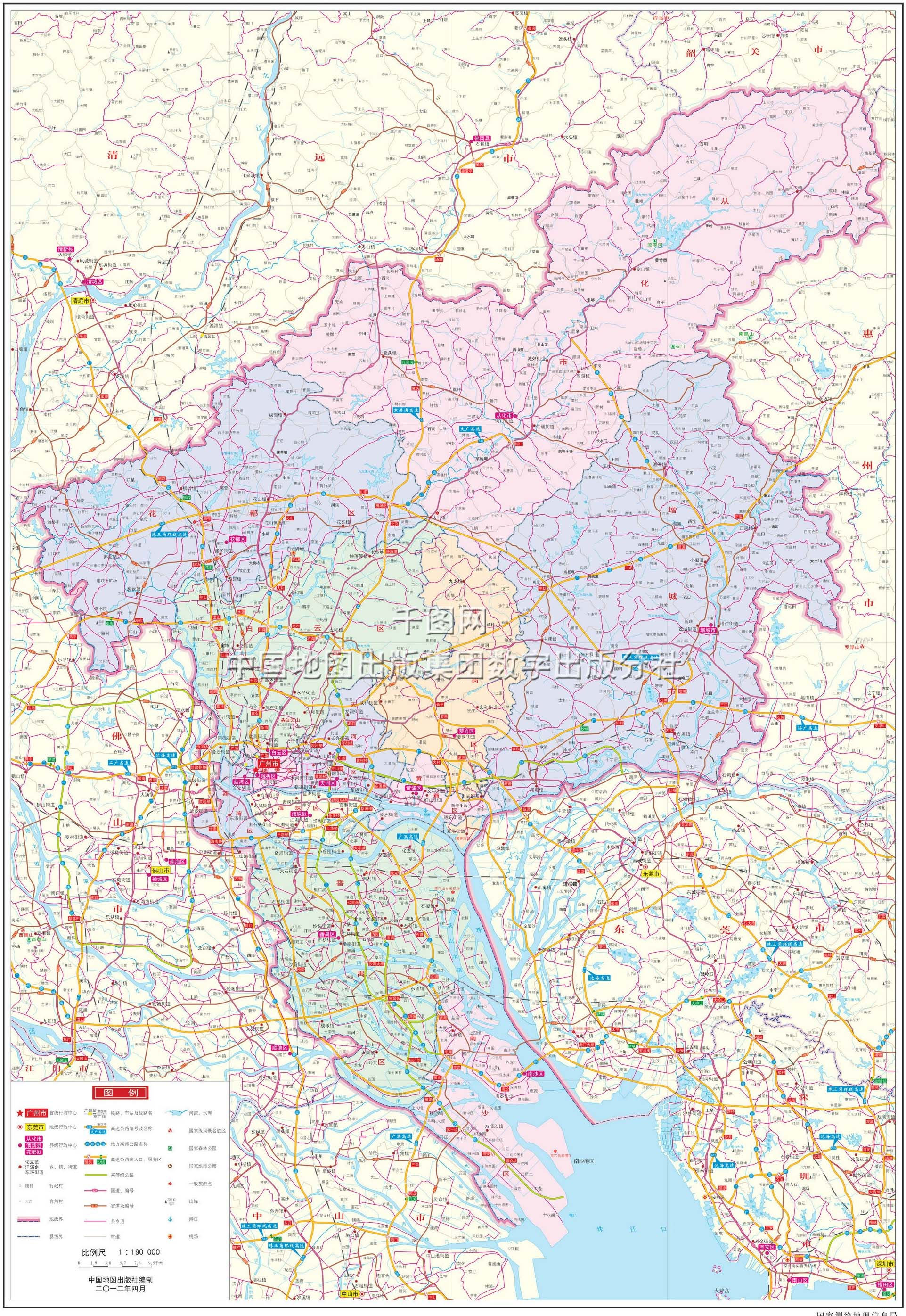 广州市地图高清版
