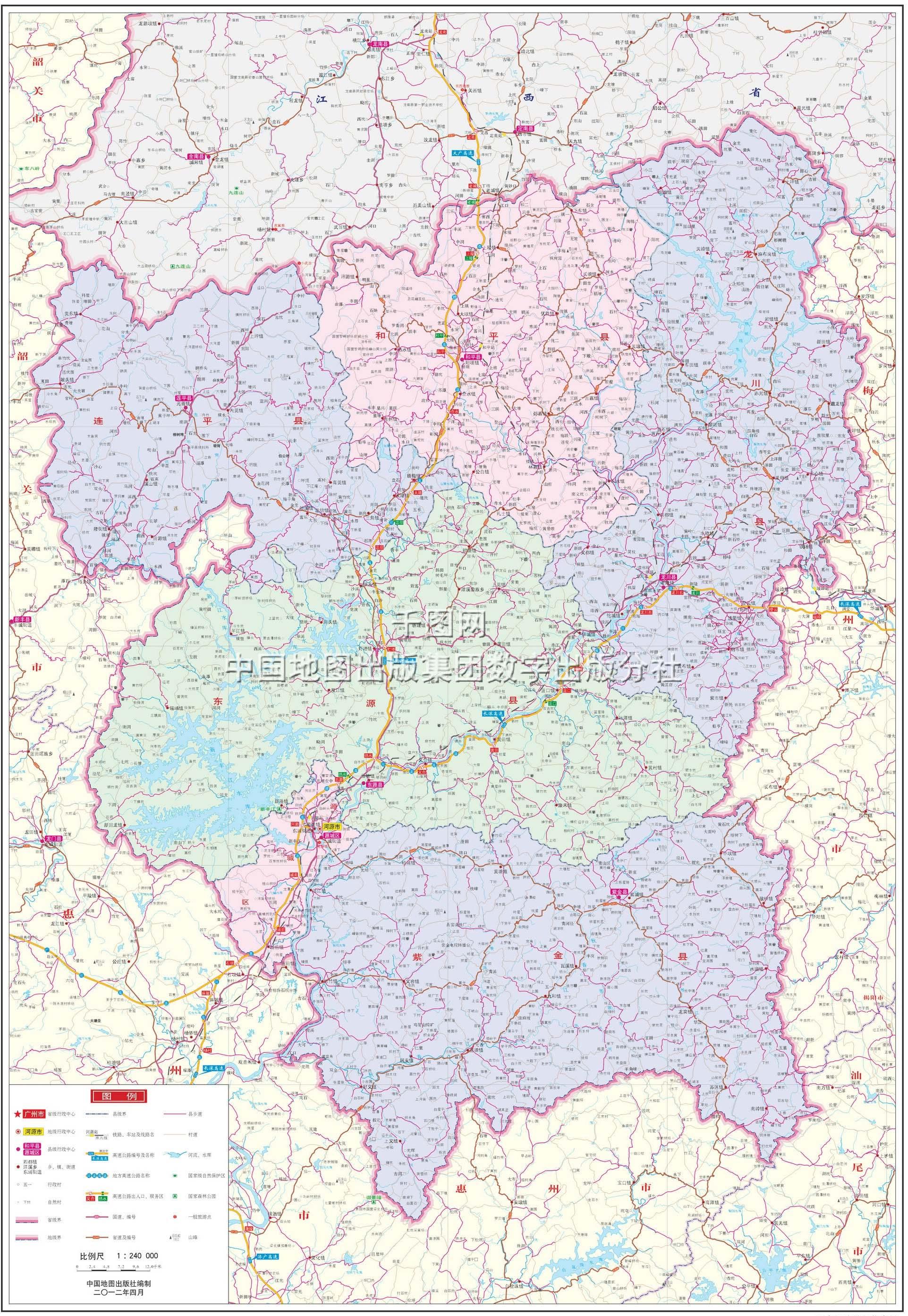广东河源龙川地图_河源市地图高清版_河源地图库