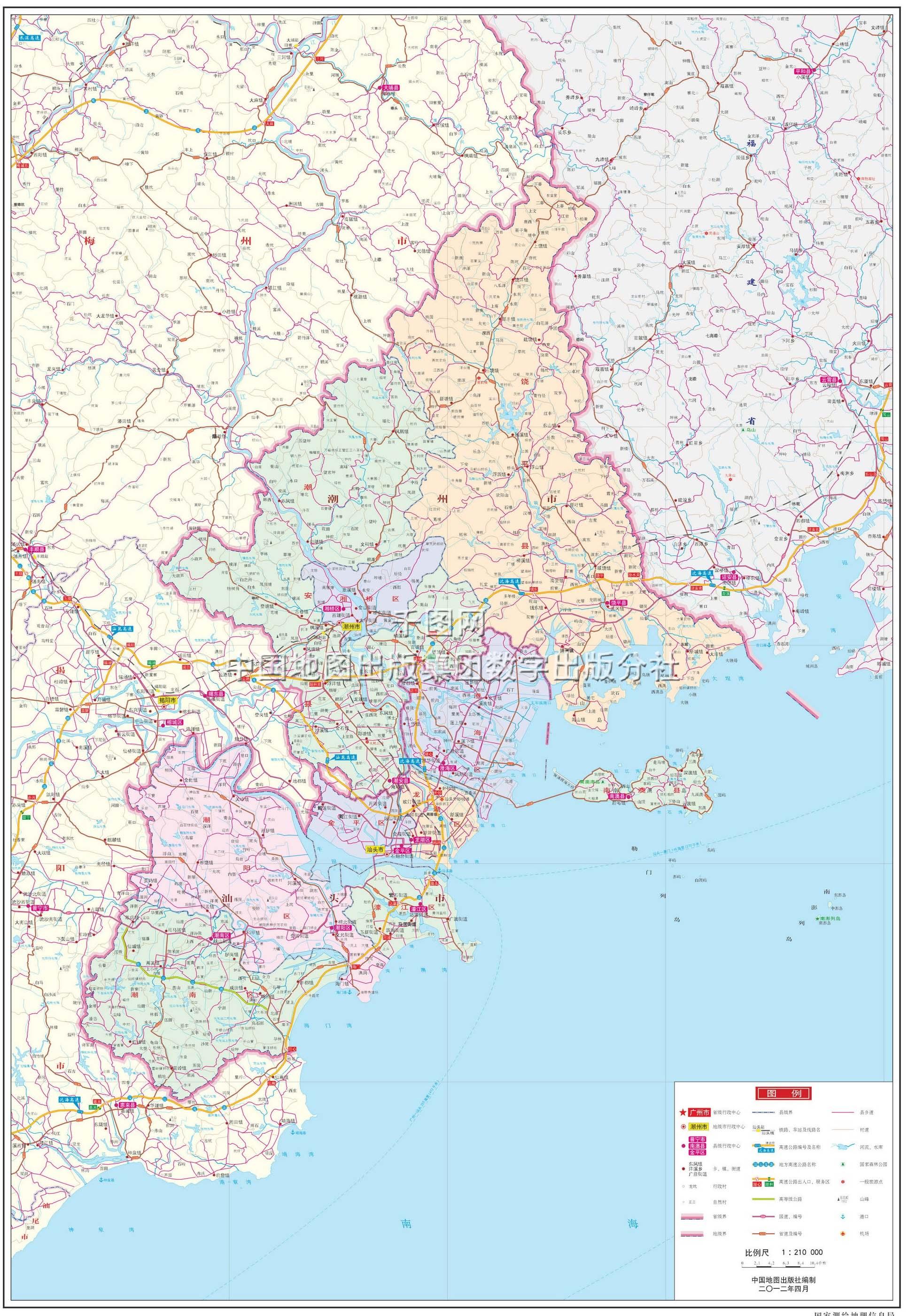 汕头市地图高清版