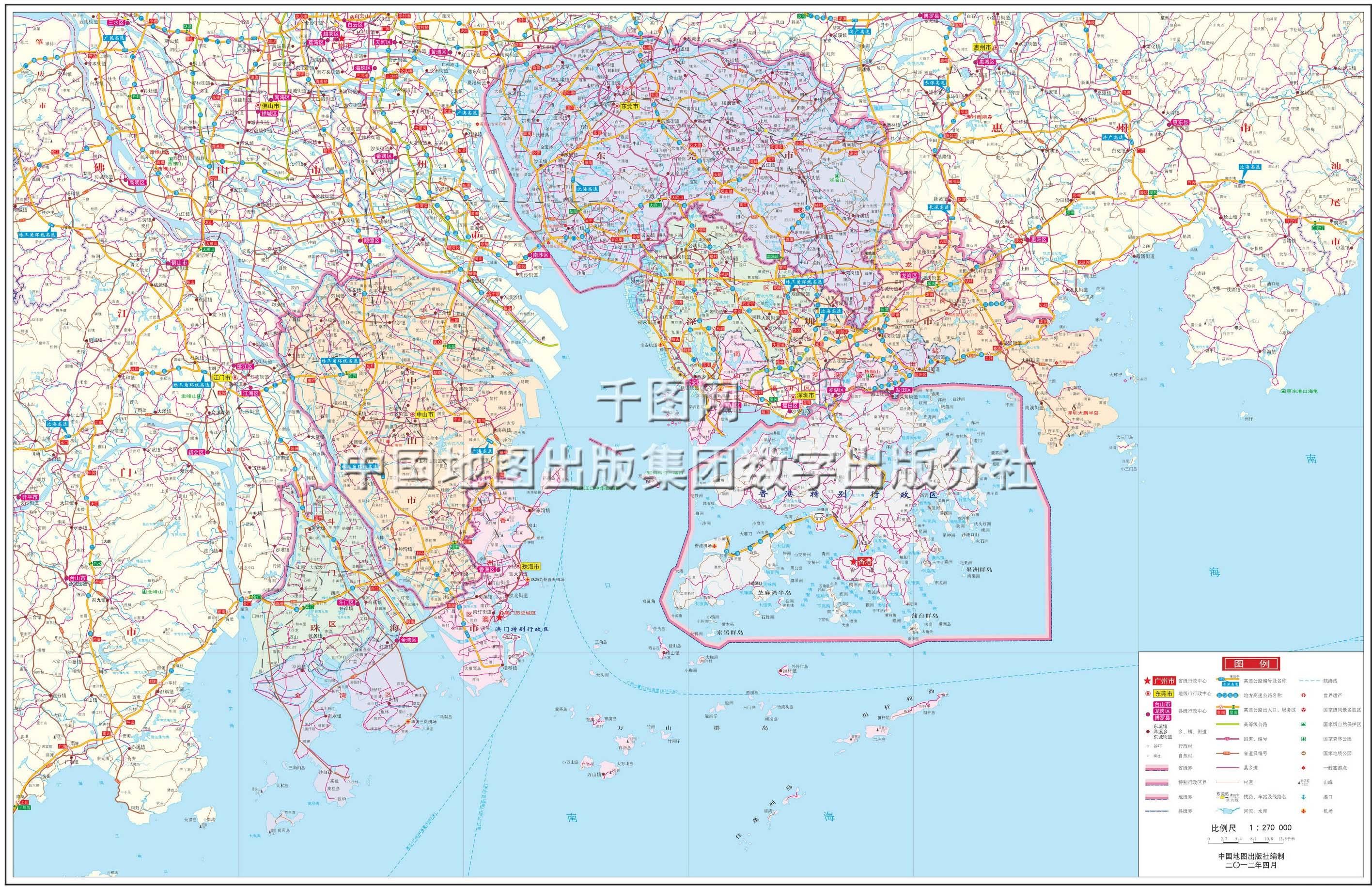 中山市地图高清版