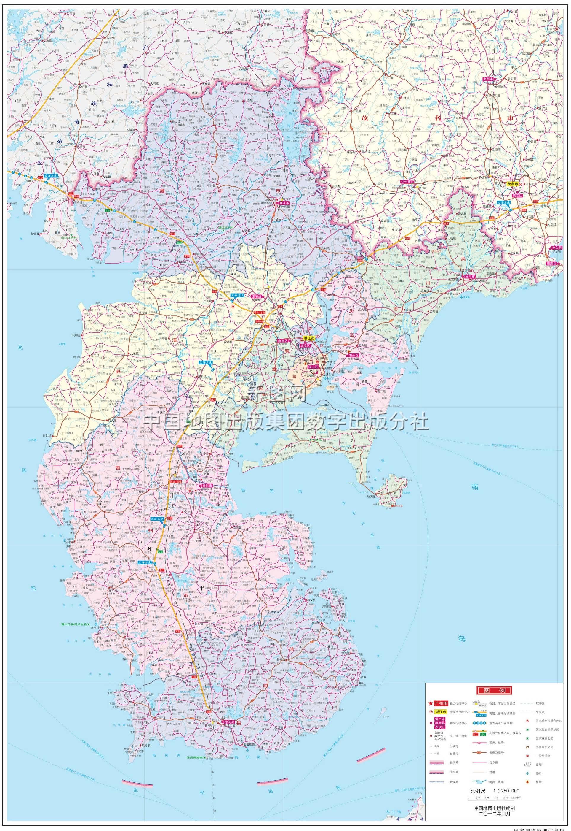 广东省全图高清版_湛江市地图高清版_湛江地图库