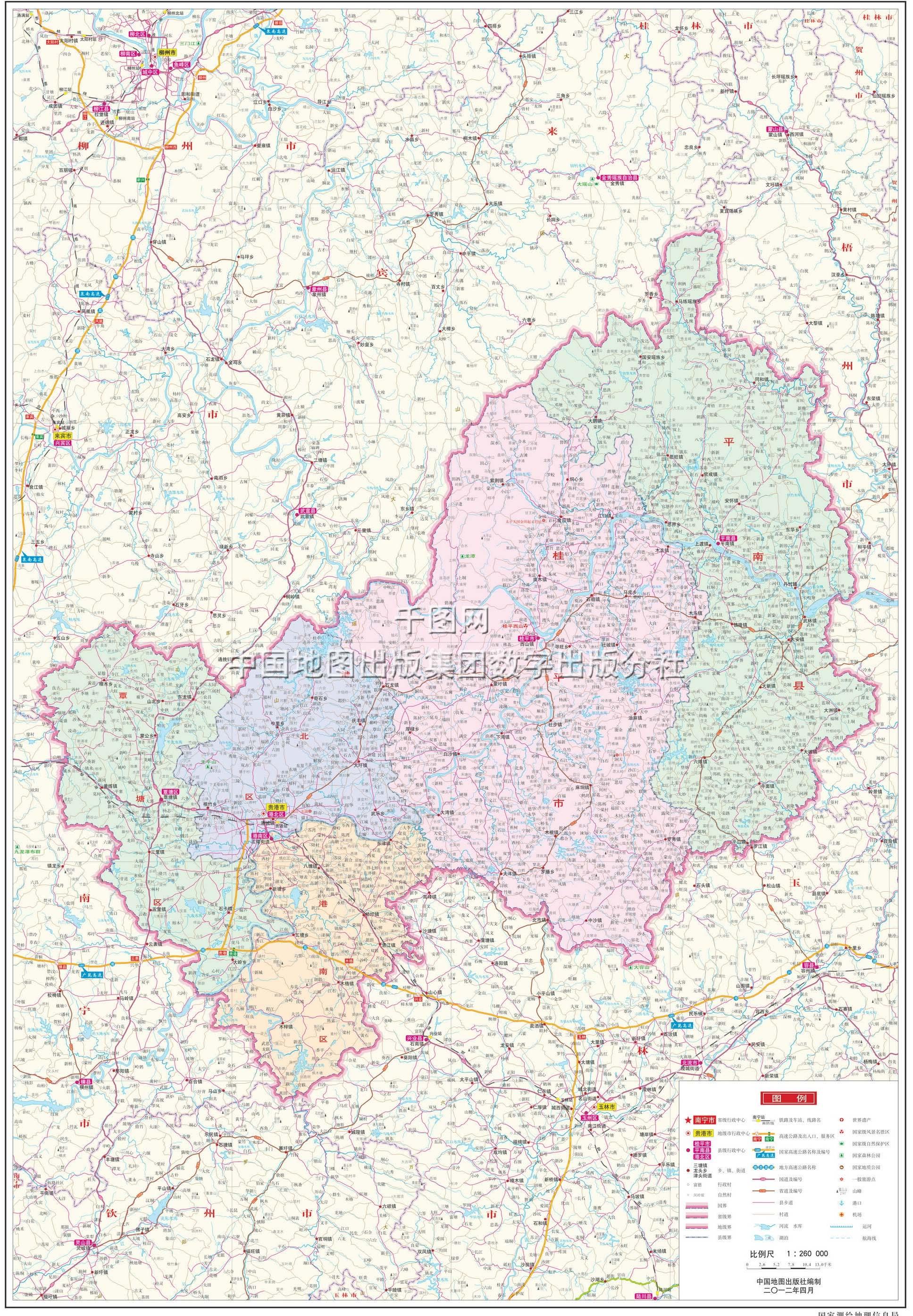 贵港市地图高清版