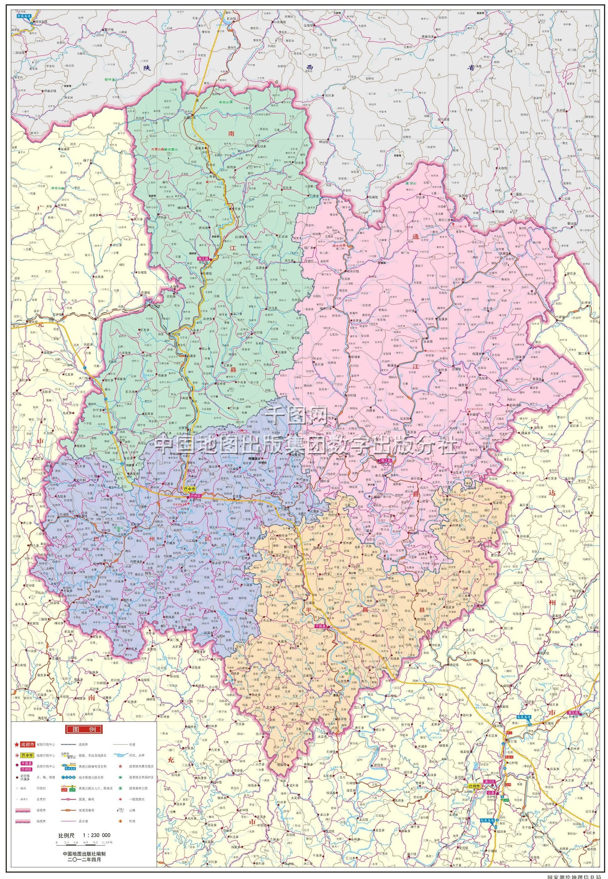 巴中市地图高清版图片
