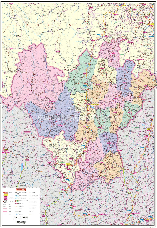 凉山彝族自治州地图高清版