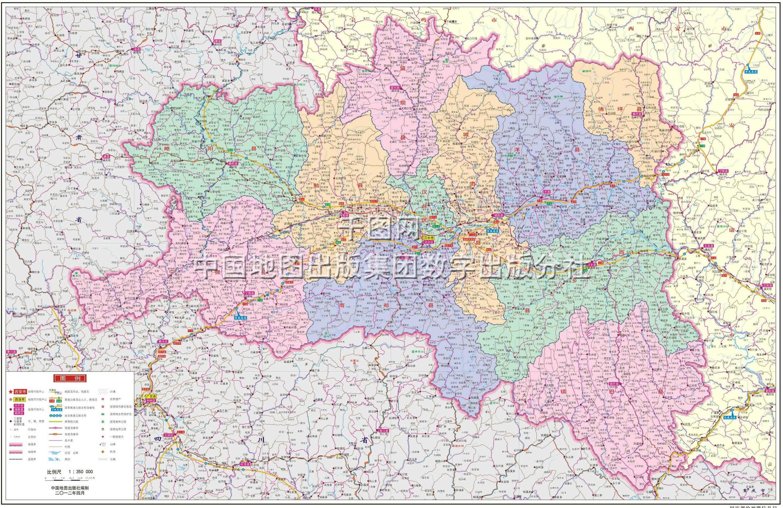 汉中市地图高清版