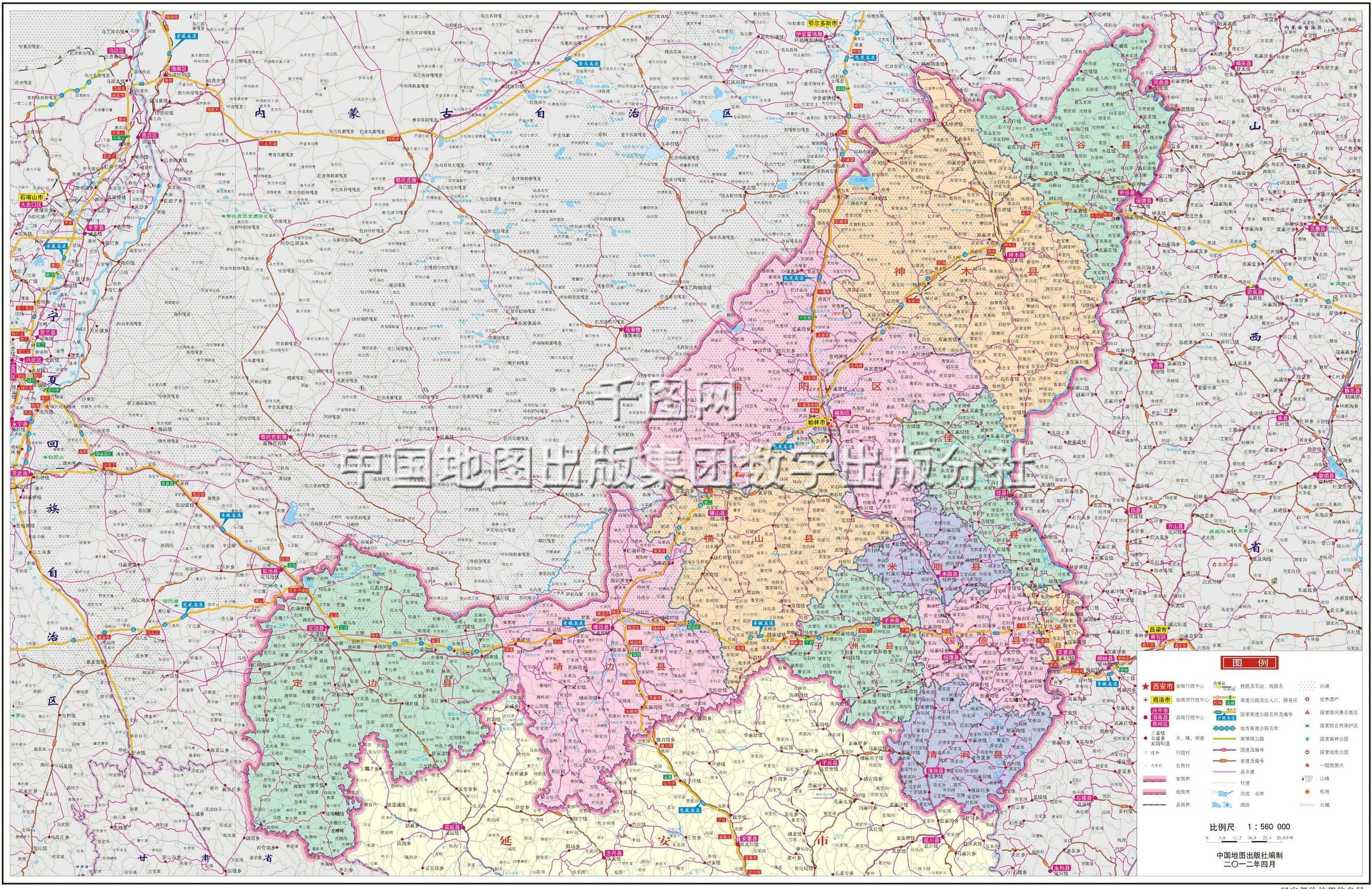榆林市区地图内容榆林市区地图版面设计图片