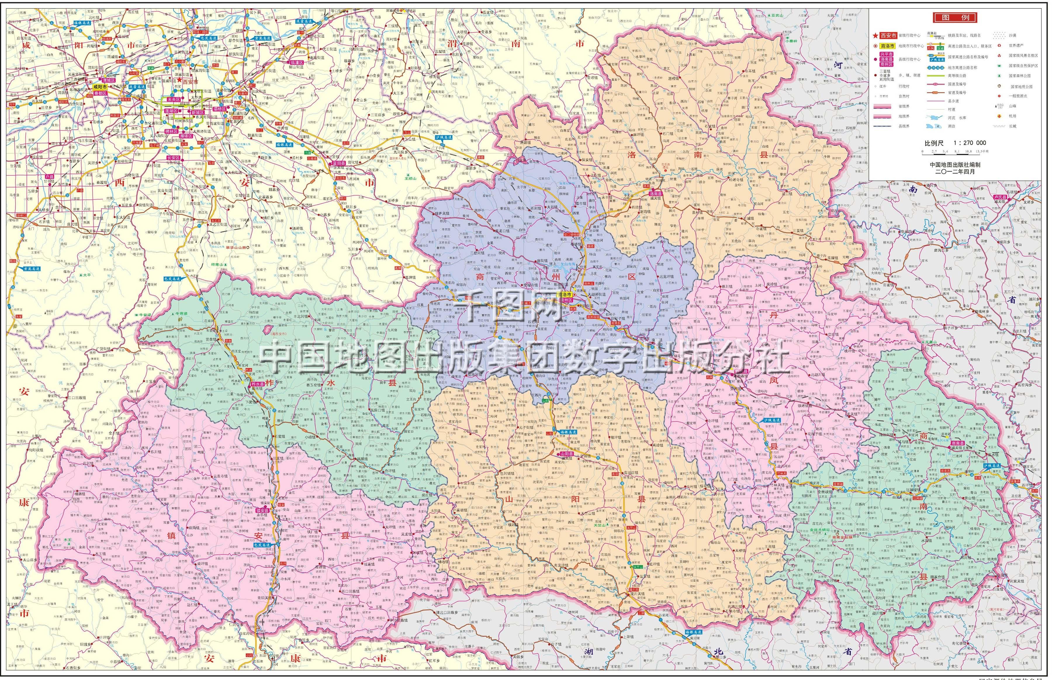 商洛市商州区_商洛市地图高清版_商洛地图库