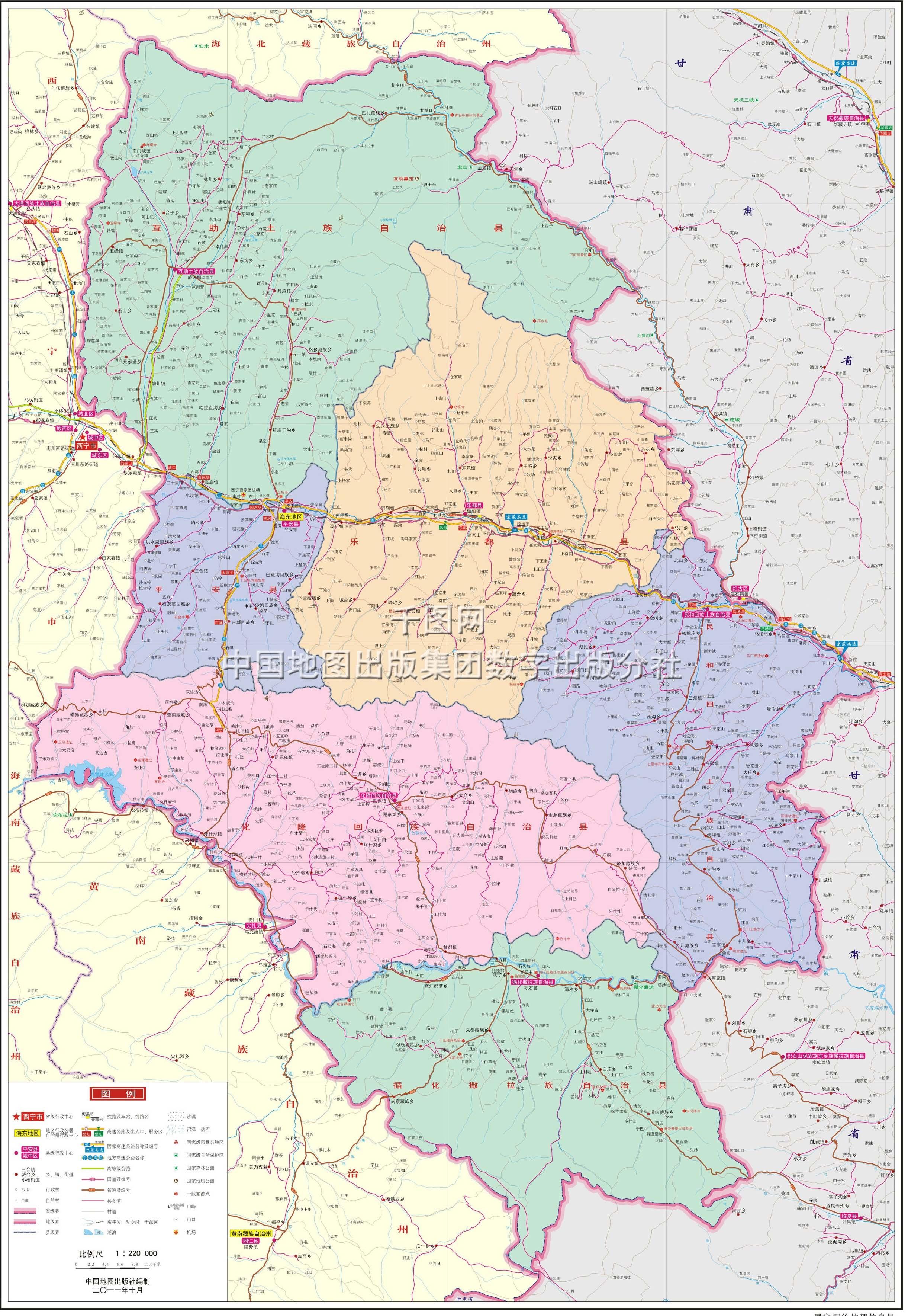 西宁市地图高清版 青海西宁市回族美女 西宁市城北区规划
