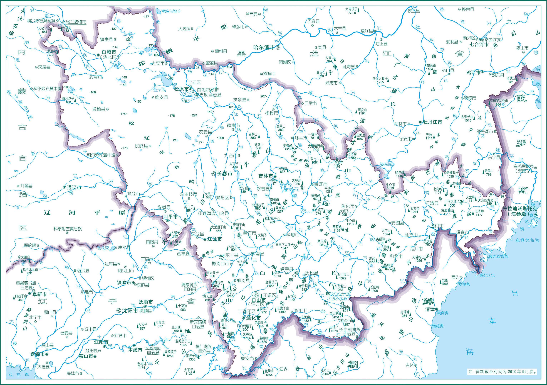 吉林地图自然地理版