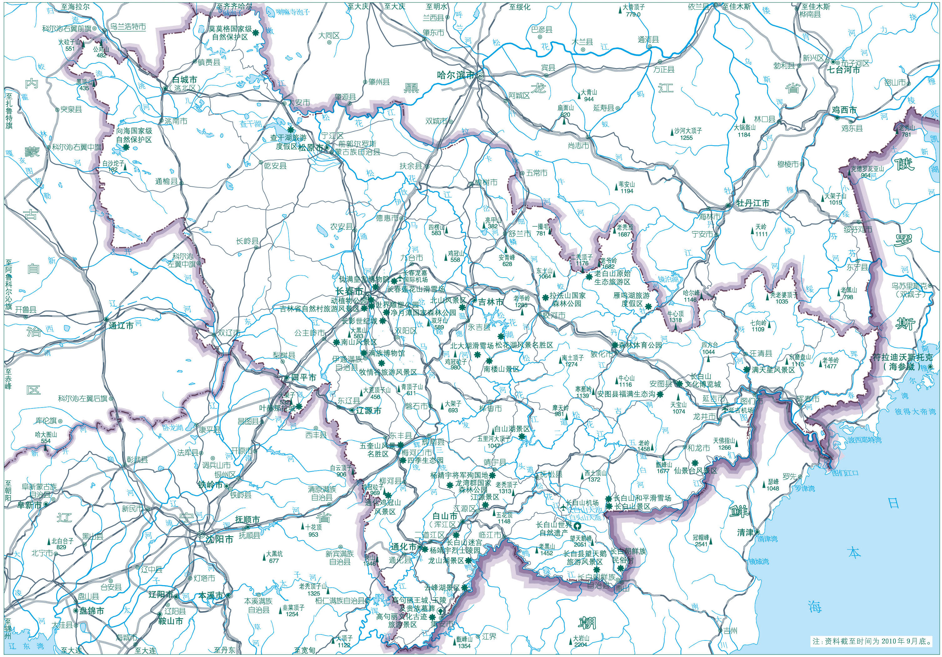 吉林地图旅游景点版_吉林地图查询