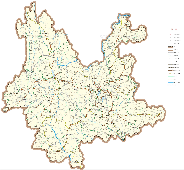 云南省交通地图