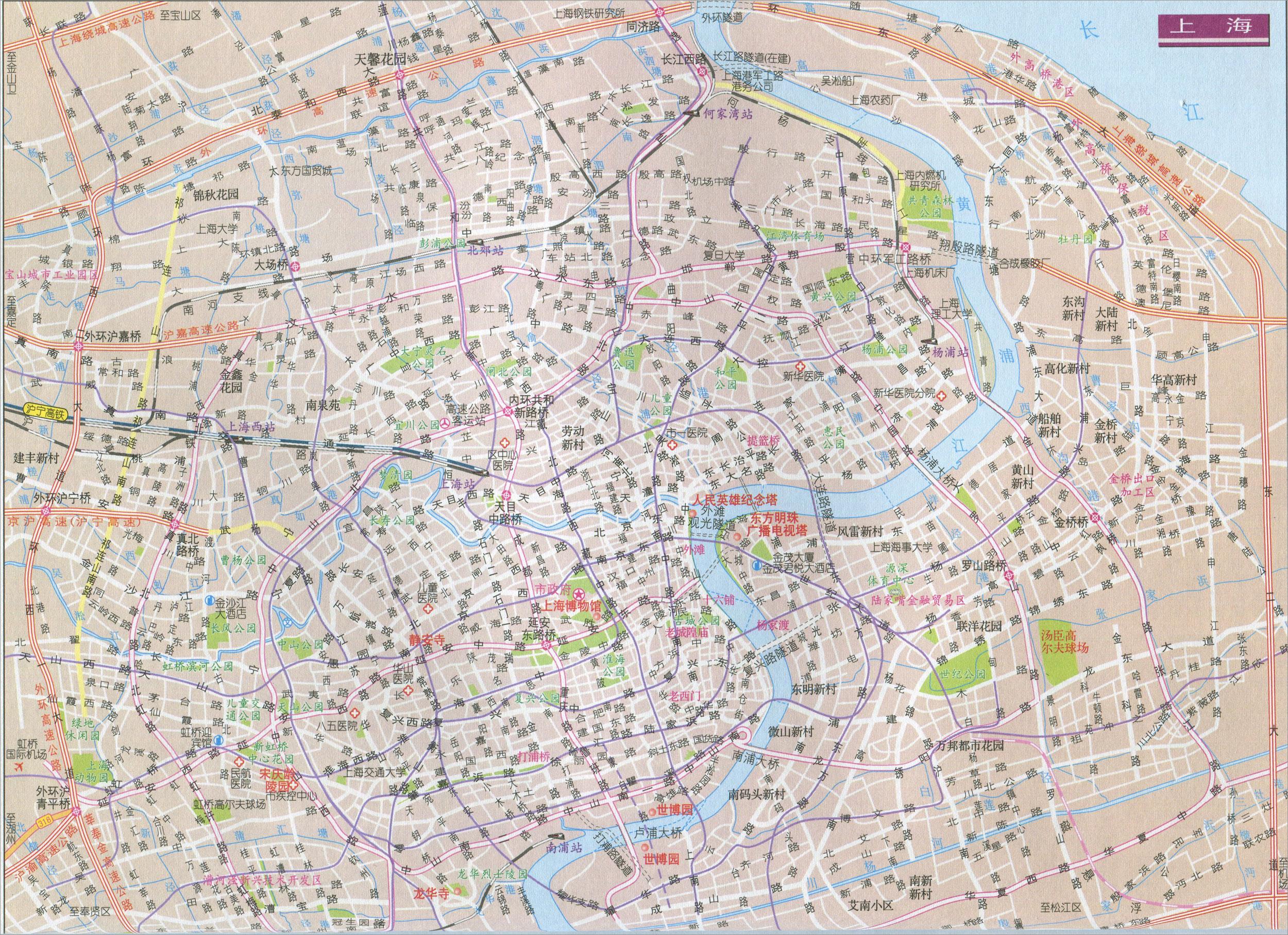地图窝 中国地图 上海 >> 上海市区地图  [1] [2] 下一页 上一张地图