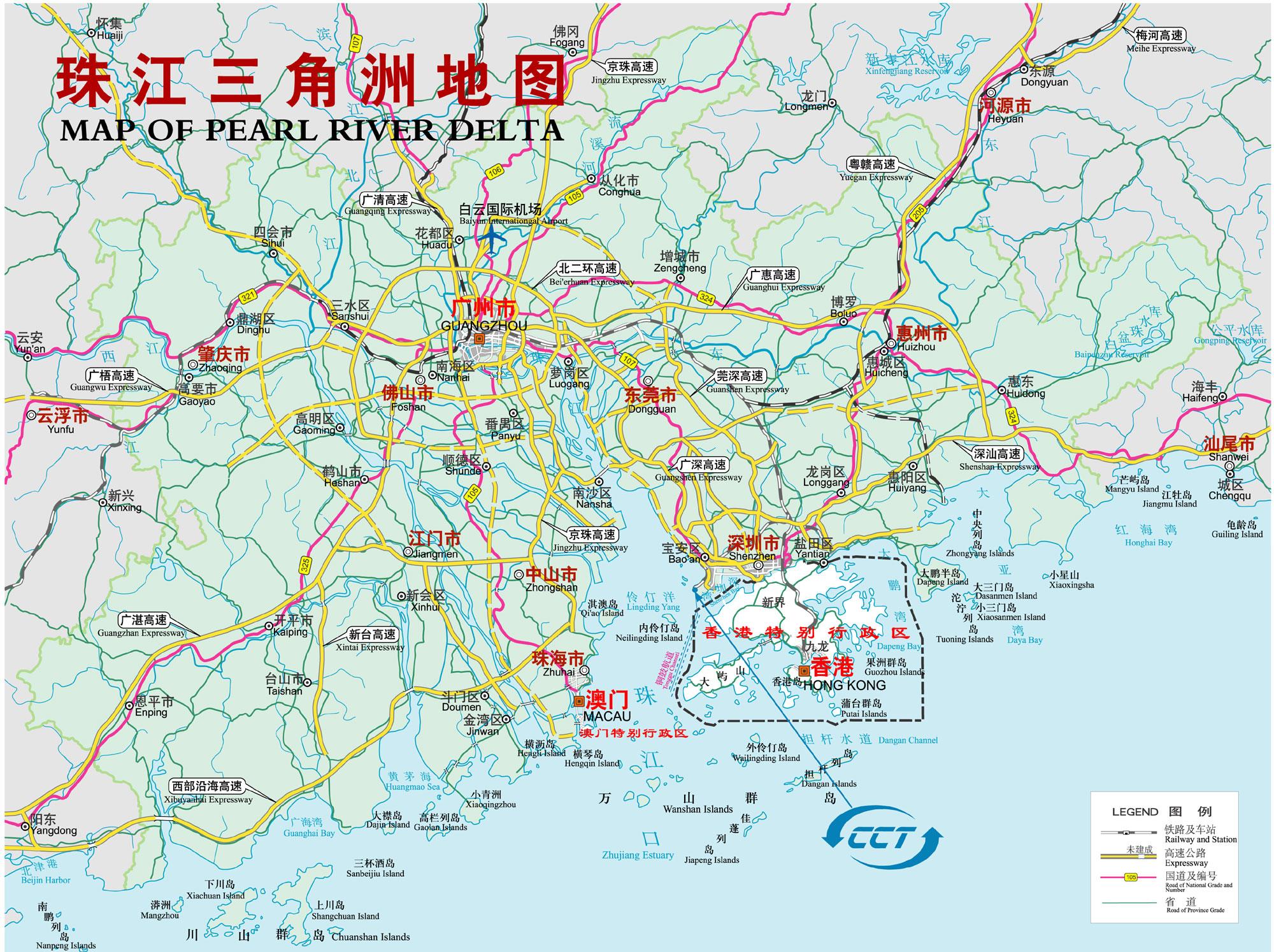 广东省高速公路地图