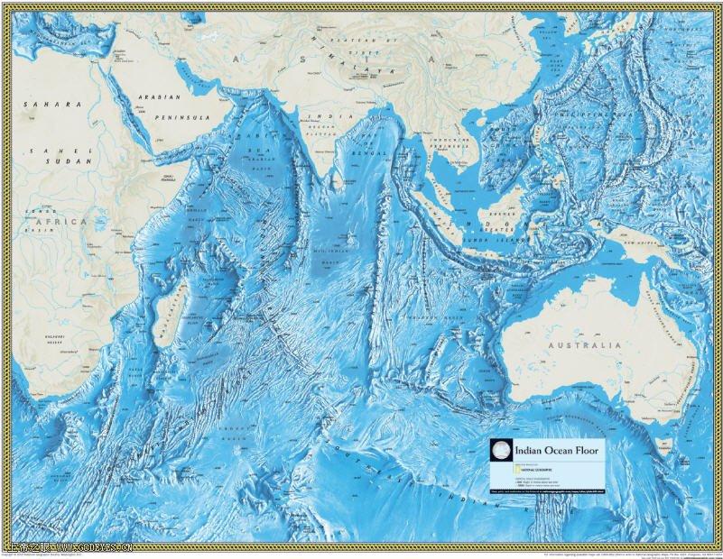 印度洋地图