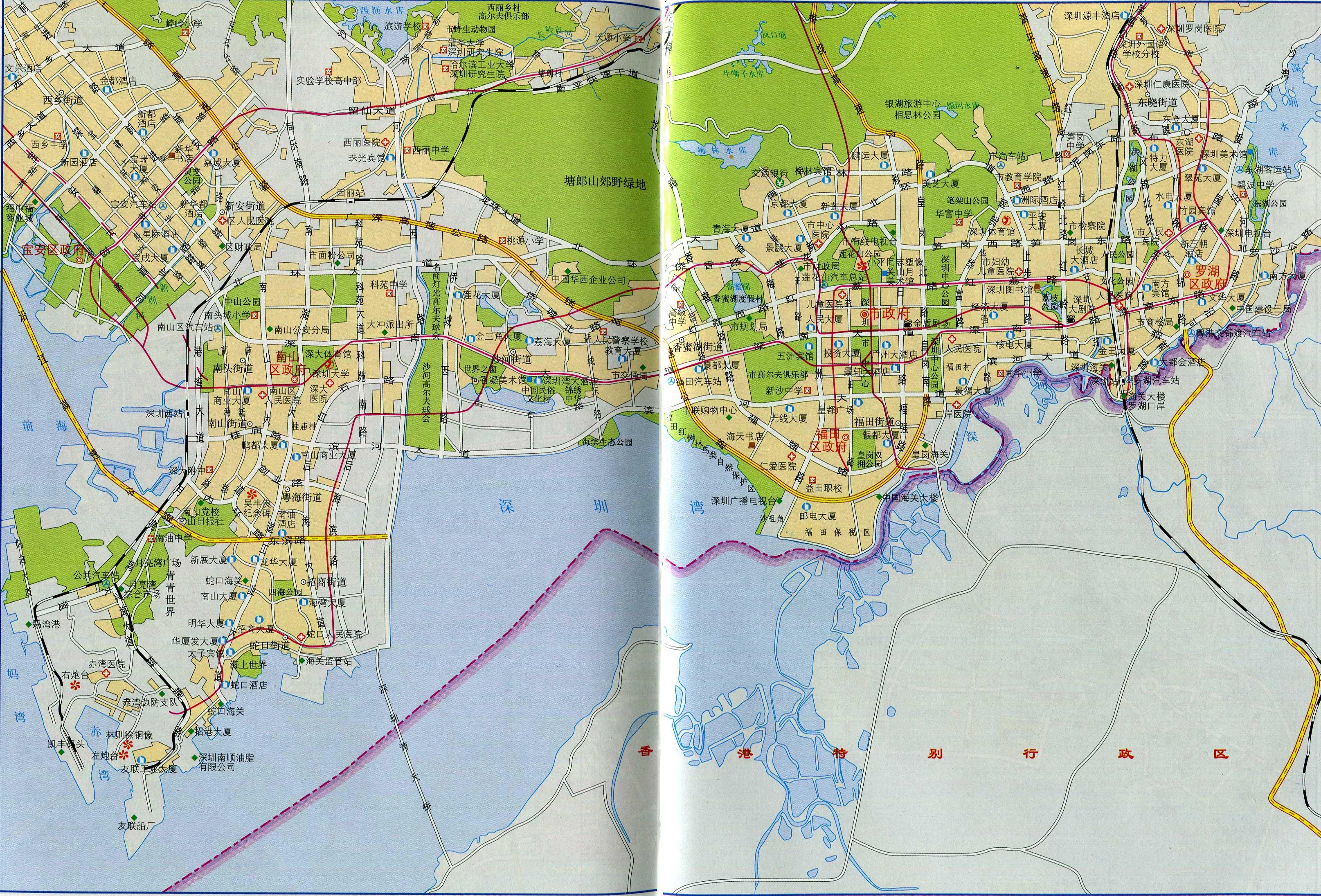 深圳市区地图