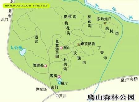 鹰山森林公园导游图
