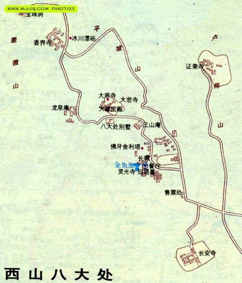 西山八大处导游图_北京地图查询