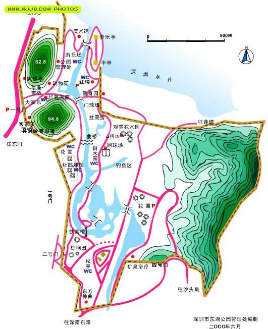 东湖公园导游图