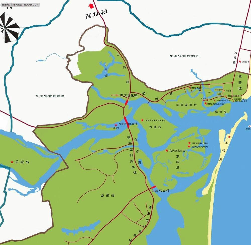 博鳌旅游地图_海南其他地图查询
