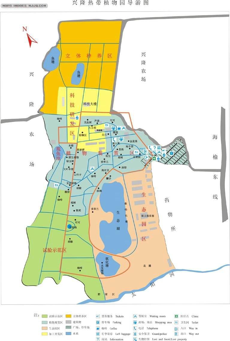 【万宁兴隆热带植物园地图】万宁兴隆热带植物园旅游