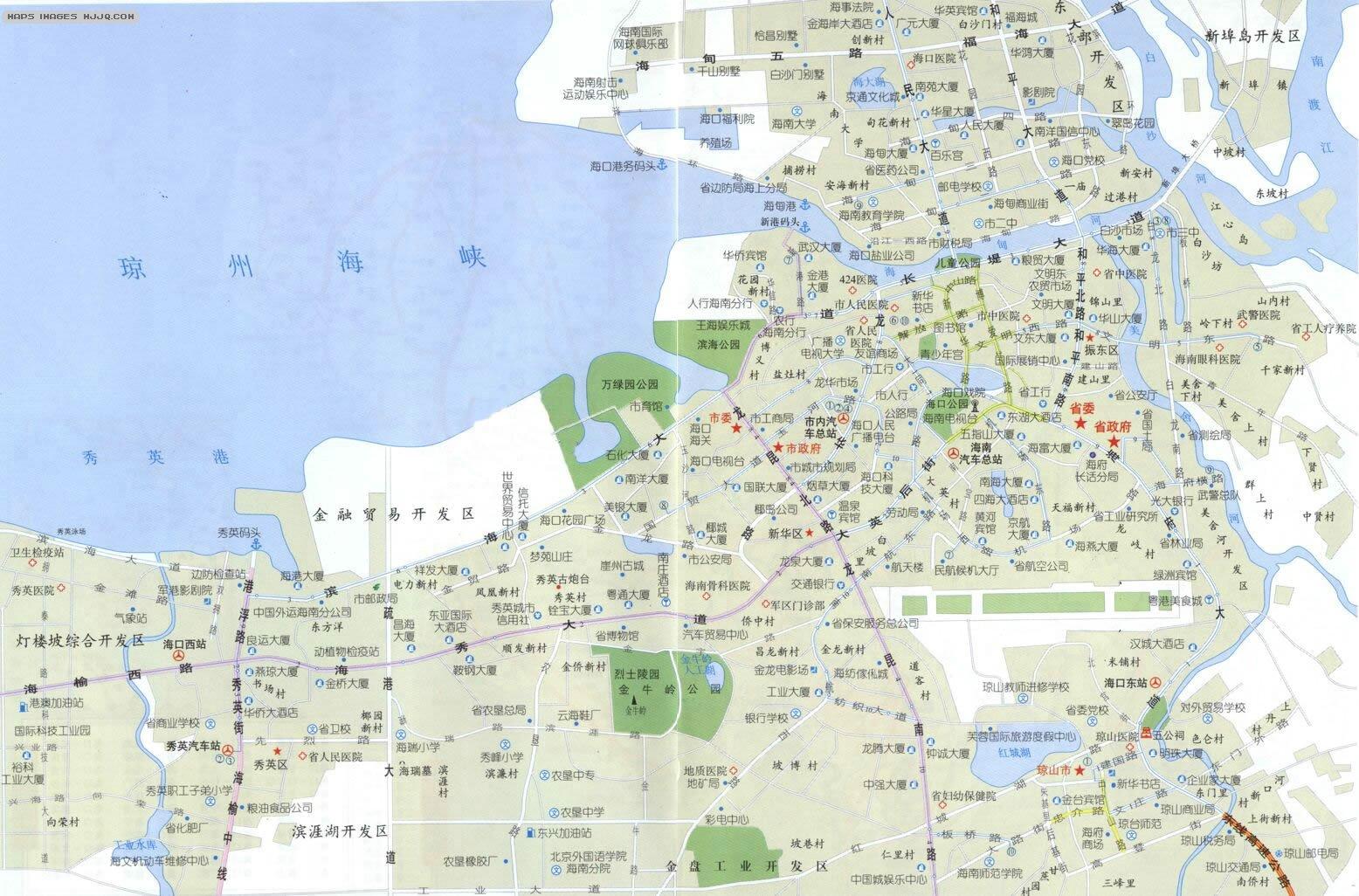 海口地图_海南旅游地图库