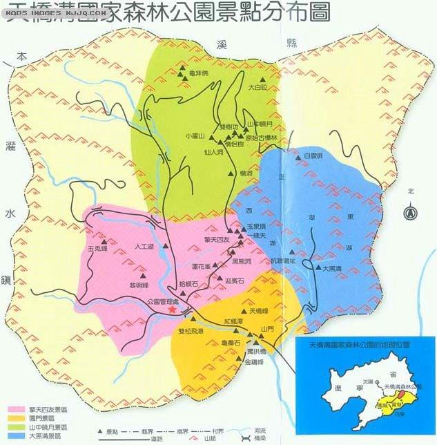 天桥沟旅游地图