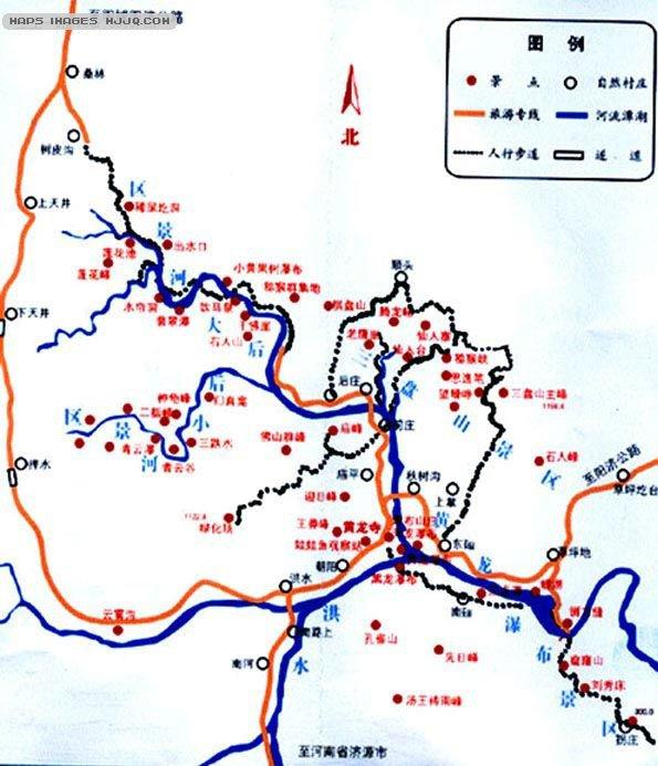 蟒河,位于晋豫两省交界的阳城县蟒河镇内。北承太岳,东接太行,西倚中条,南连王屋,且与河南济源市毗邻,在小浪底水利工程和阳城电厂的辐射范围。居暖温带之南缘,亚热带之北界。地理位置特殊,生物种群南北过渡,东西承接,四方杂居,种类繁多,区系复杂,汇聚了丰富的生物资源,体现了生物多样性的特点。蟒河自然风景旅游区,东起三盘山,西至砥柱山,南至河南省界,北至花园岭。海拔最高砥柱山1572.