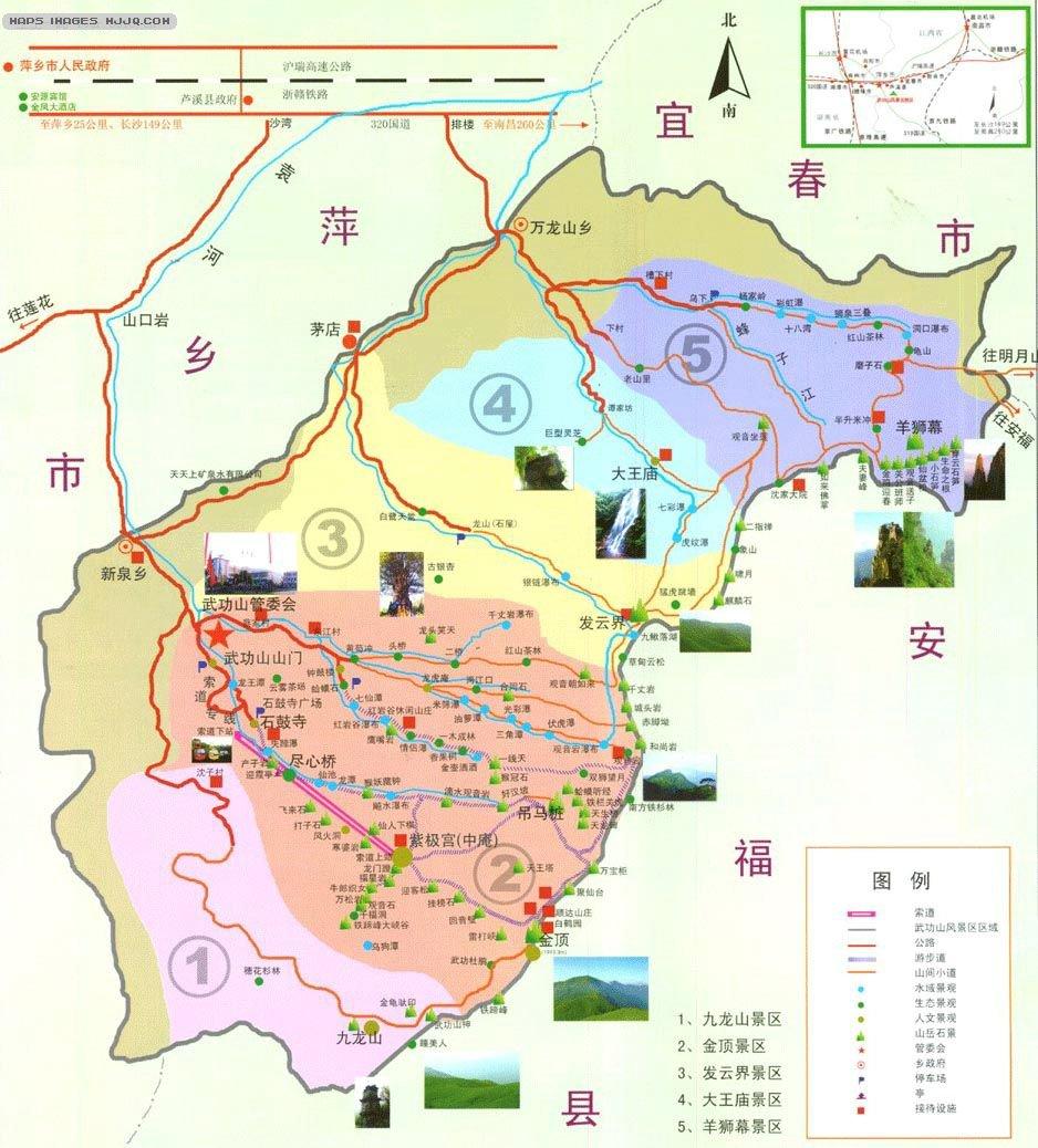 江西人文景观地图_