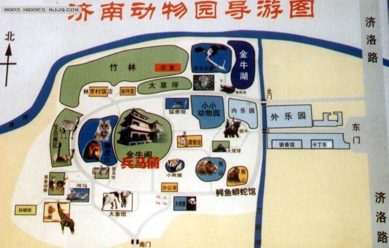 济南动物园导游图