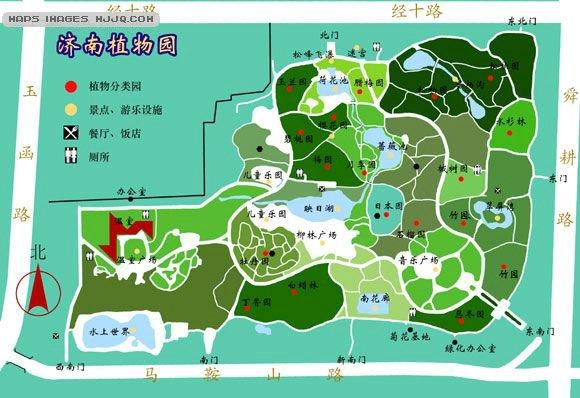 济南植物园地处济南市区南部、千佛山西北侧,济南植物园是以科研、科普为中心,科研、科普与游览相结合,突出科学性和地区气候特点建成的一个环境优美、内容科学、种类丰富的植物园。现已拥有栽培植物116科750种(不包括品种),并每年不断引进新品种扩充种质库。