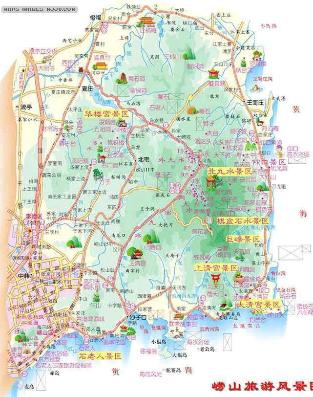 崂山旅游地图