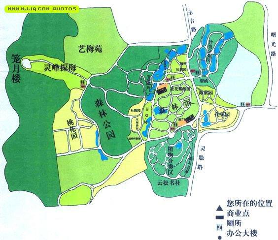 杭州植物园导游图