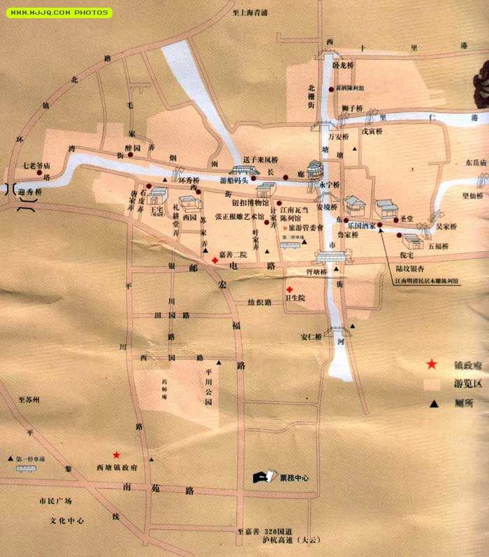 西塘古镇导游图_浙江景点地图库