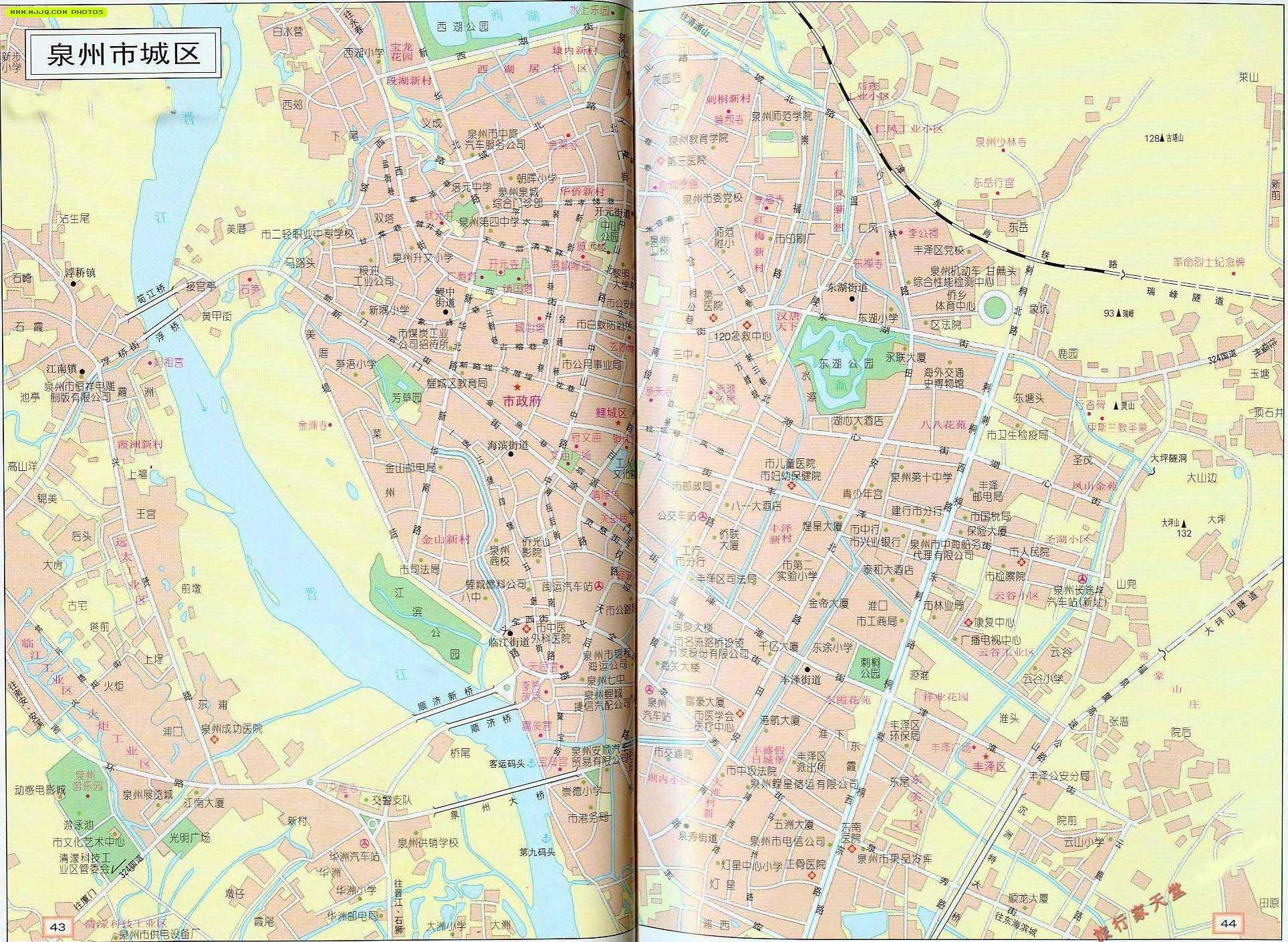 泉州地图_福建旅游地图库