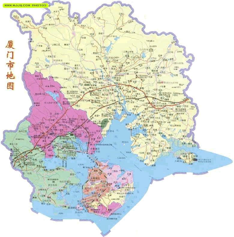 厦门地图_福建旅游地图库
