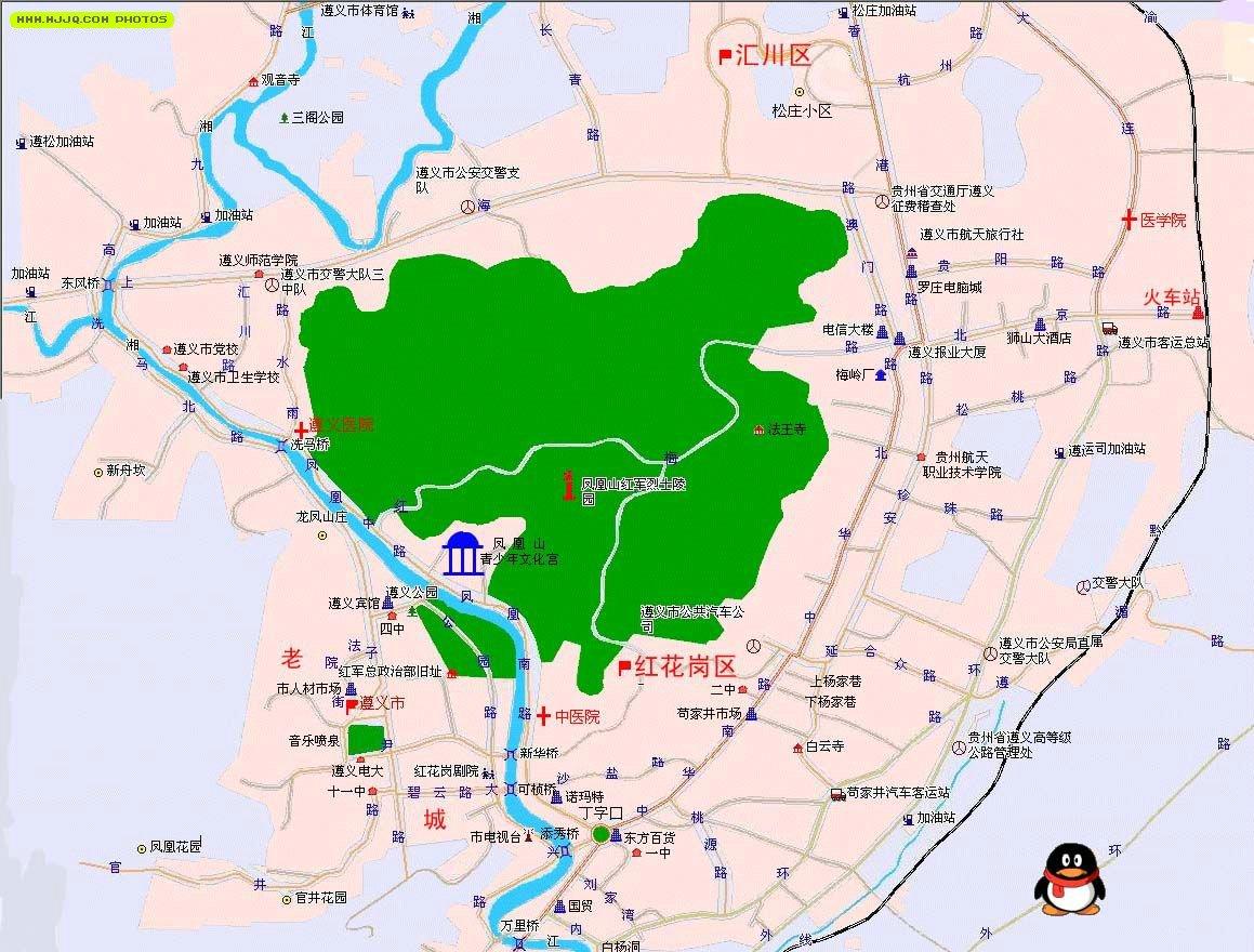 遵义地图_贵州旅游地图库