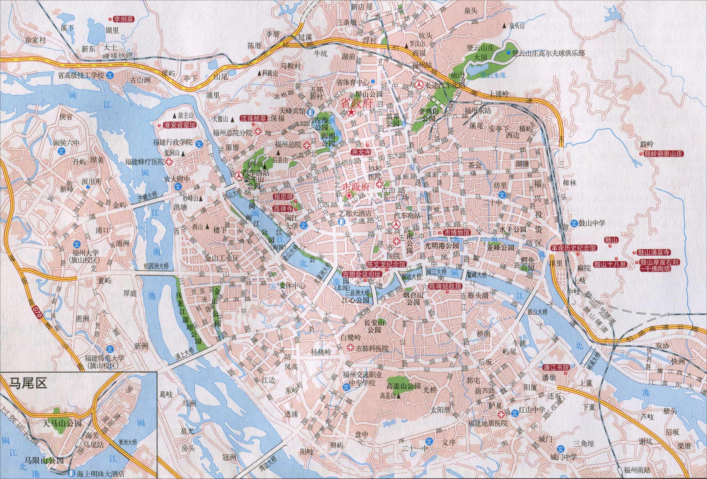 福建福州市区地图_福建福州地图_裕安图片网