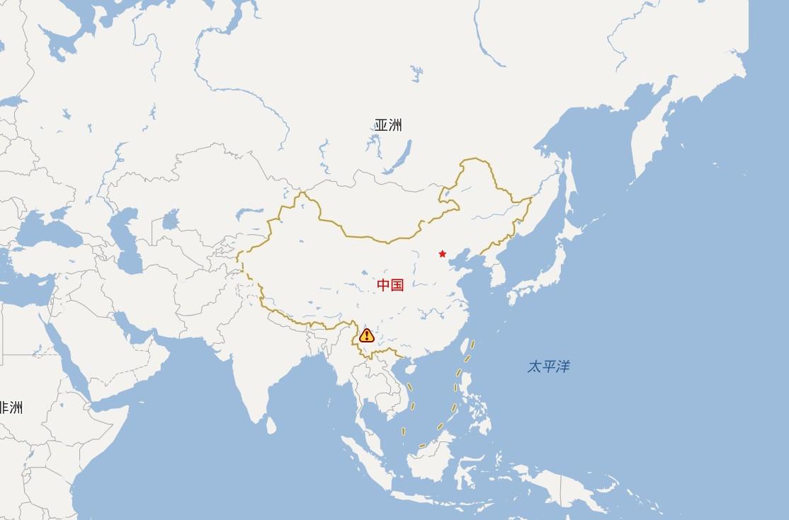 亚洲概貌图