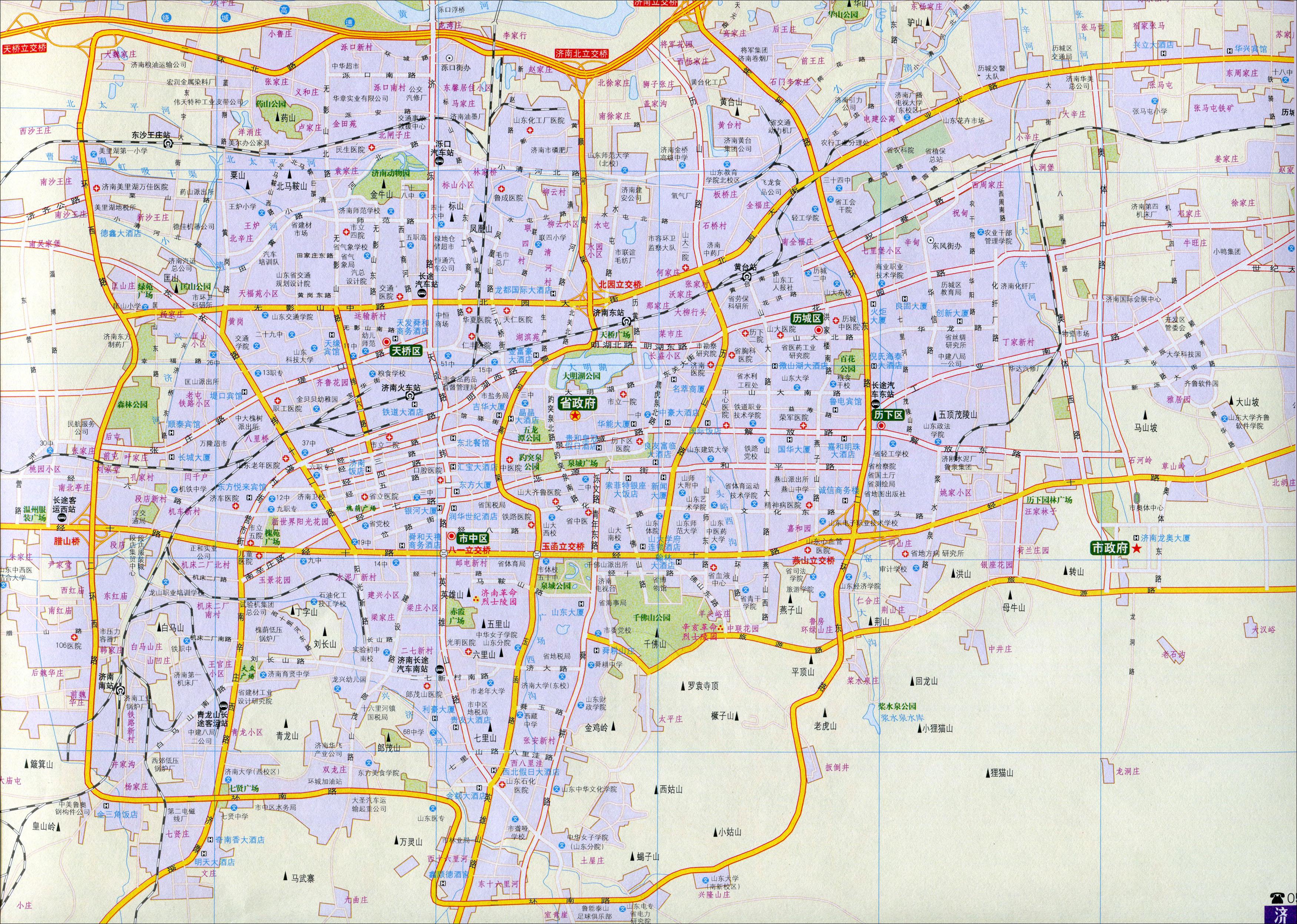 济南市交通地图2016版