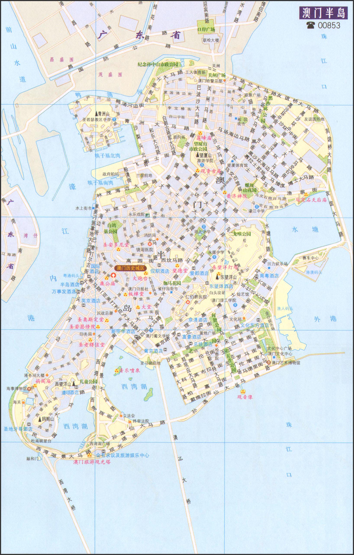 澳门半岛地图2014年版