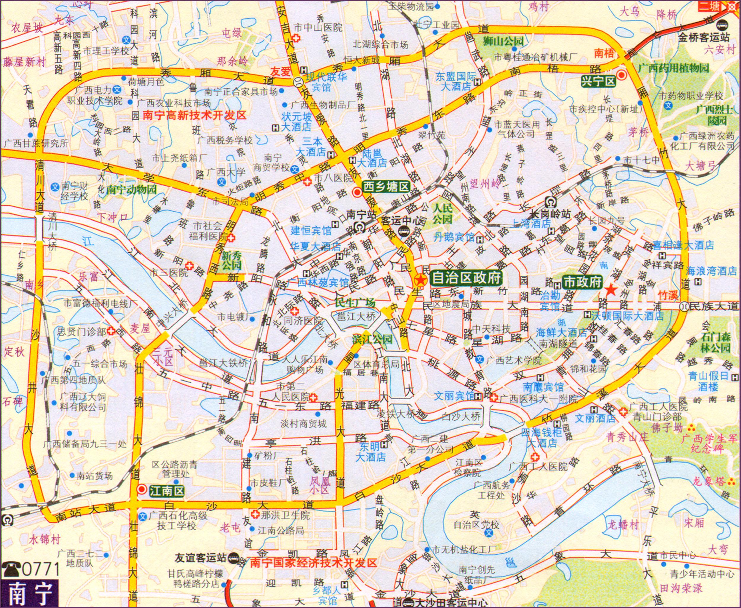 南宁市交通地图2014版