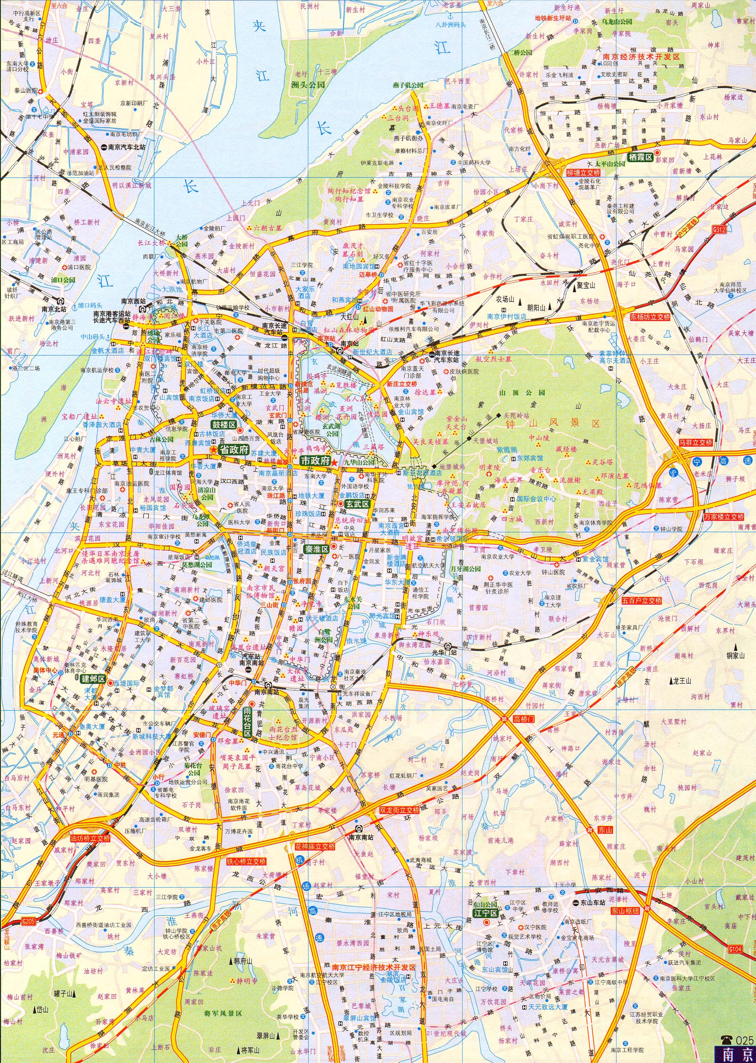 南京交通地图2016版