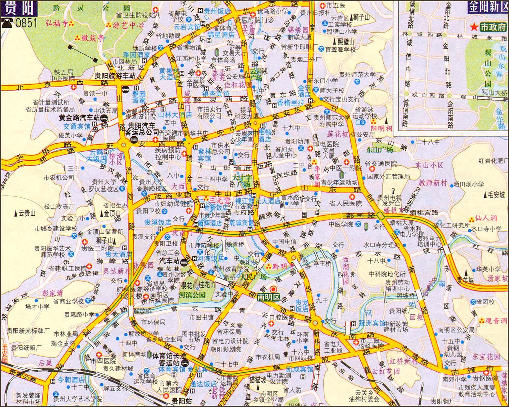 贵阳交通地图2017版
