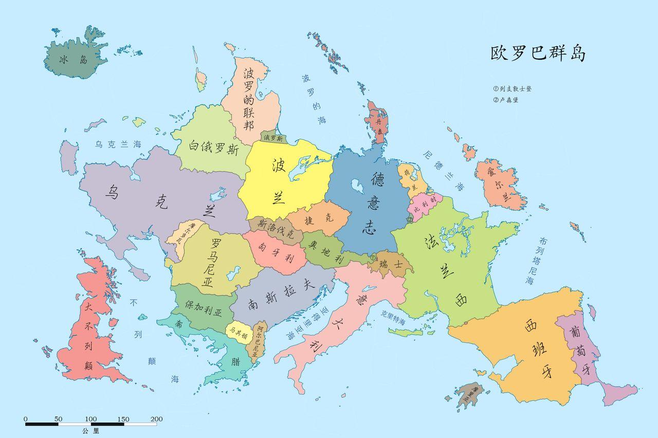 欧罗巴群岛地图