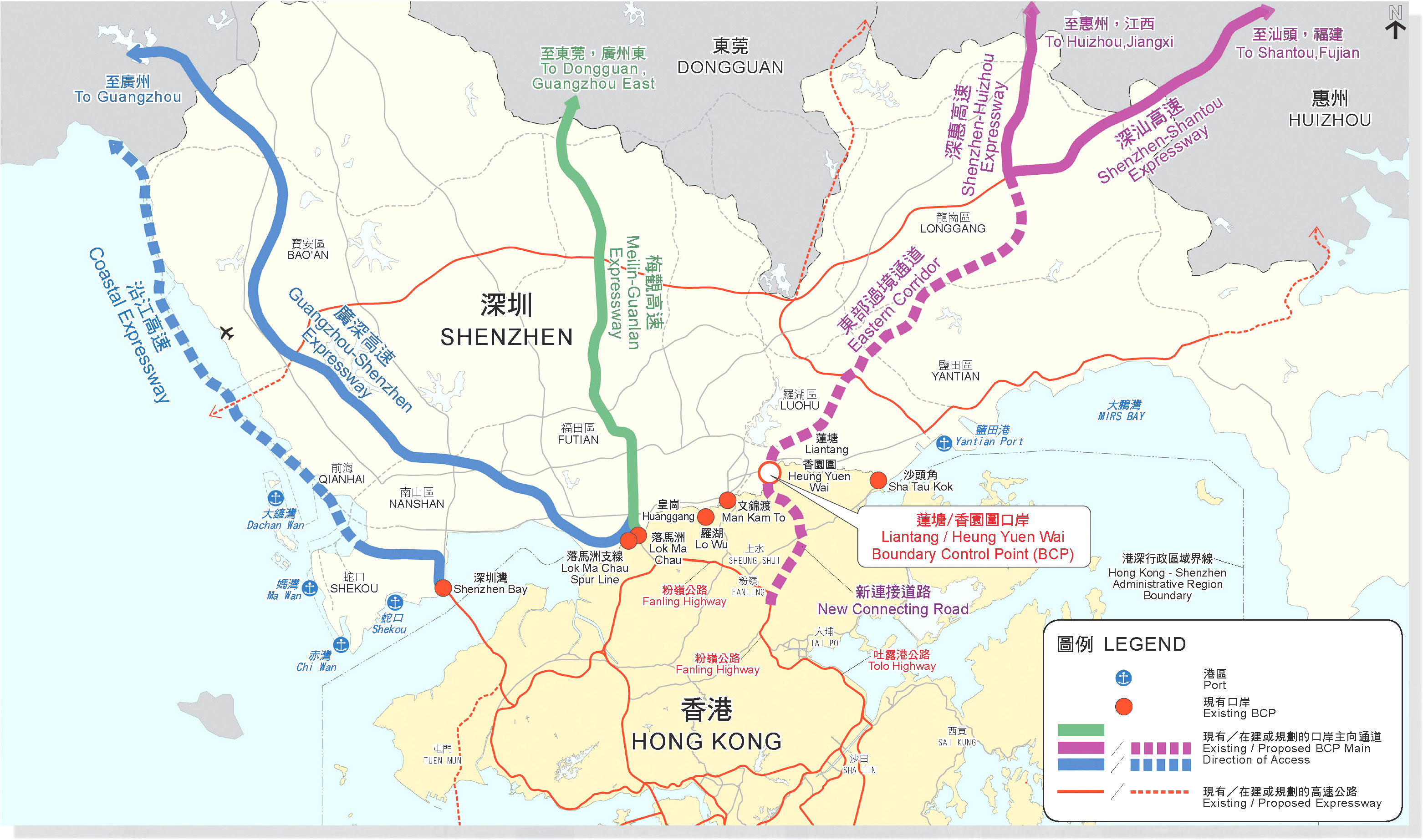 深圳香港高速公路布局图_交通 ...